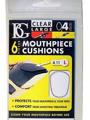 BG Mouthpiece Cushion, Clear: Large/Thin (6 pack)