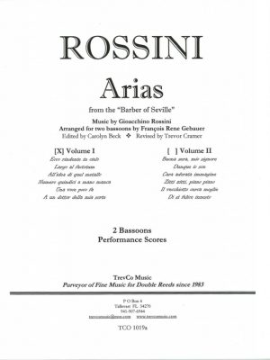 Rossini 12 Arias from the 'Barber of Seville' for two bassoons