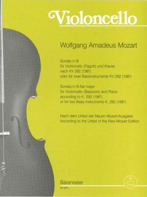 Mozart Sonata K292 Barenreiter Ed.