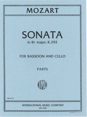 Mozart Sonata K292 for 2 Bassoons. International.