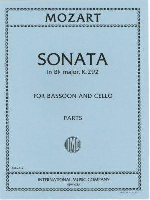 Mozart Sonata K292 for 2 Bassoons. International.