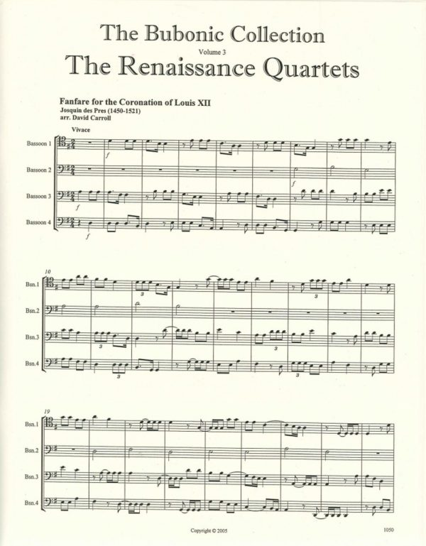 The Bubonic Collection Vol. 3 - The Renaissance Quartets