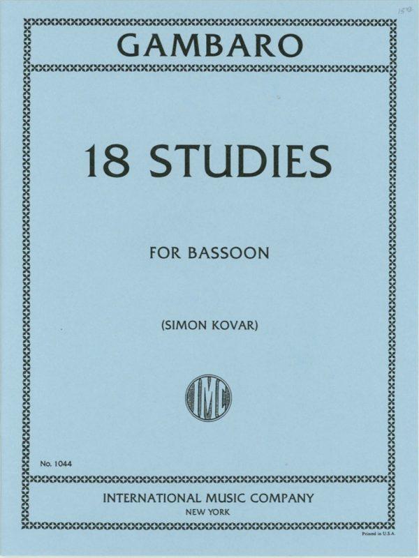 Gambaro: 18 Studies for Bassoon