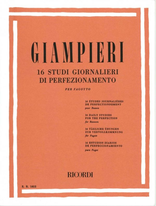 Giampieri: 16 Daily Studies for Bassoon