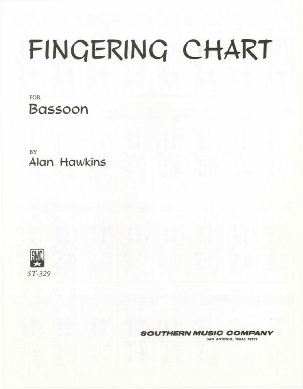 Hawkins: Fingering chart for Bassoon