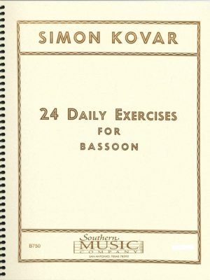 Kovar: 24 Daily Exercises for Bassoon