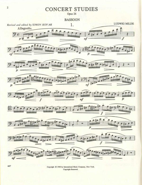 Milde: 50 Concert Studies, Op. 26. Vol. 1: Nos. 1-25.  International Edition