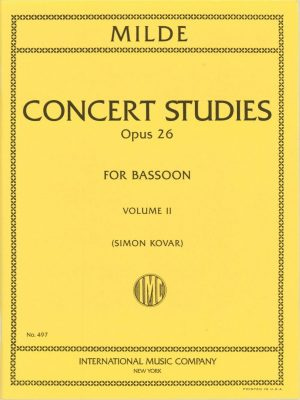 Milde: 50 Concert Studies, Op. 26. Vol. 2: Nos. 26-50. International Edition