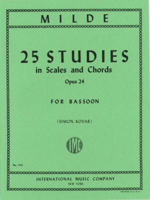 Milde: 25 Studies in Scales and Chords for Bassoon