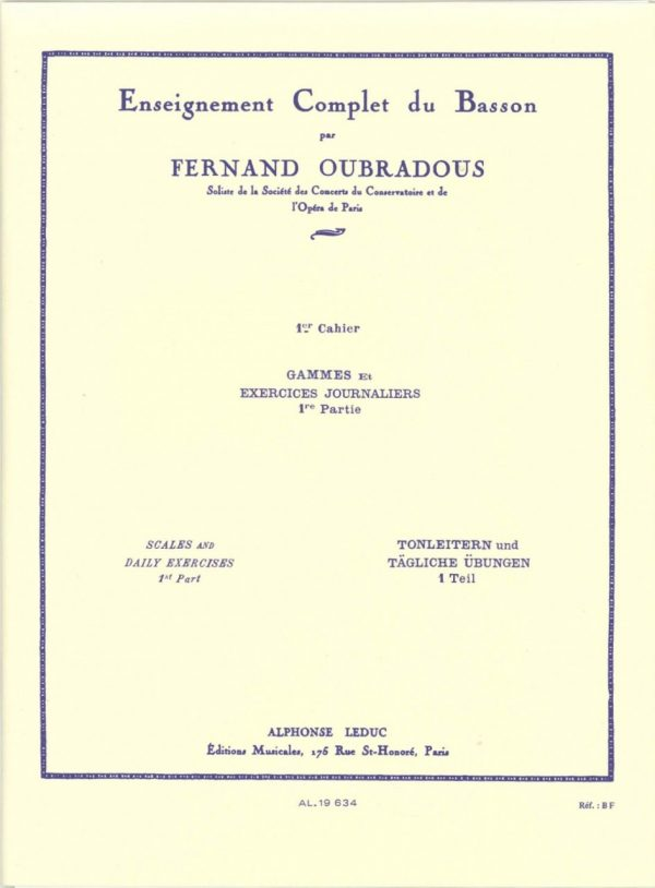 Oubradou: Scales and Daily Exercises, Vol. 1