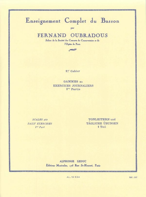 Oubradou: Scales and Daily Exercises,  Vol. 2