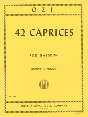 Ozi: 42 Caprices for Bassoon