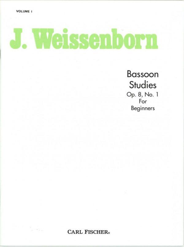 Weissenborn: Bassoon Studies for Beginners, Op 8, vol I