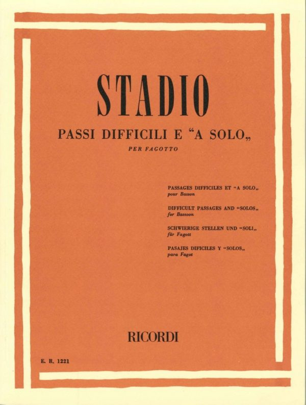 Stadio: Difficult Passages and Solos for Bassoon
