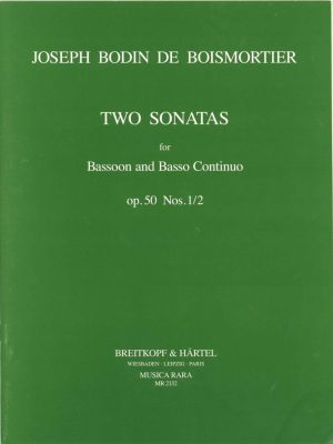 Boismortier: Two Sonatas for Bassoon, Op. 50 #1-2