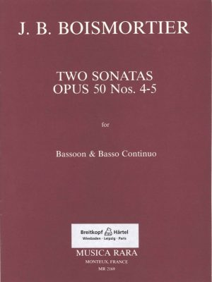 Boismortier: Two Sonatas for Bassoon, Op. 50 #4-5