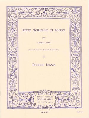Bozza: Recit, Sicilienne et Rondo for Bassoon and Piano