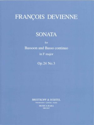 Devienne: Sonata in F Major for Bassoon and Basso Continuo, Op. 24 #3