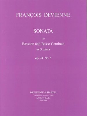 Devienne: Sonata in G Minor for Bassoon and Basso Continuo, Op 24 #5