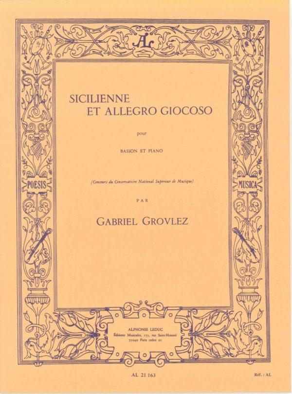 Grovlez: Scilienne et Allegro Giocoso