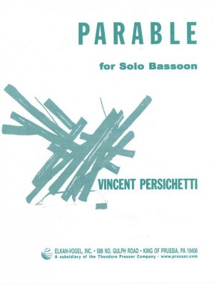 Persichetti: Parable for Solo Bassoon