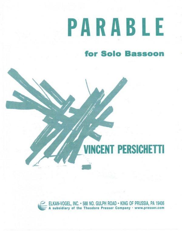 Persichetti: Parable for Solo Bassoon