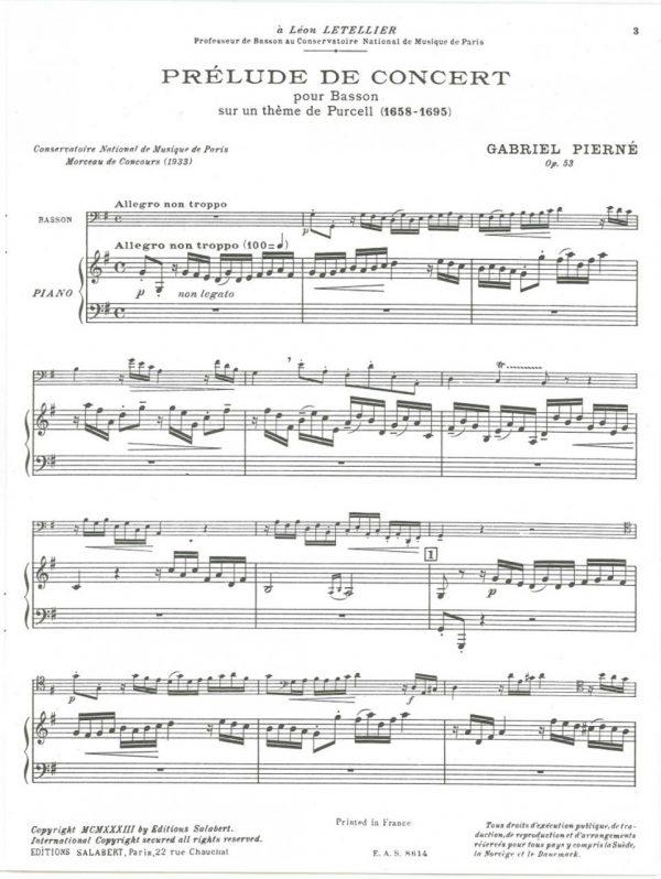 Pierne: Prelude de Concert op. 53