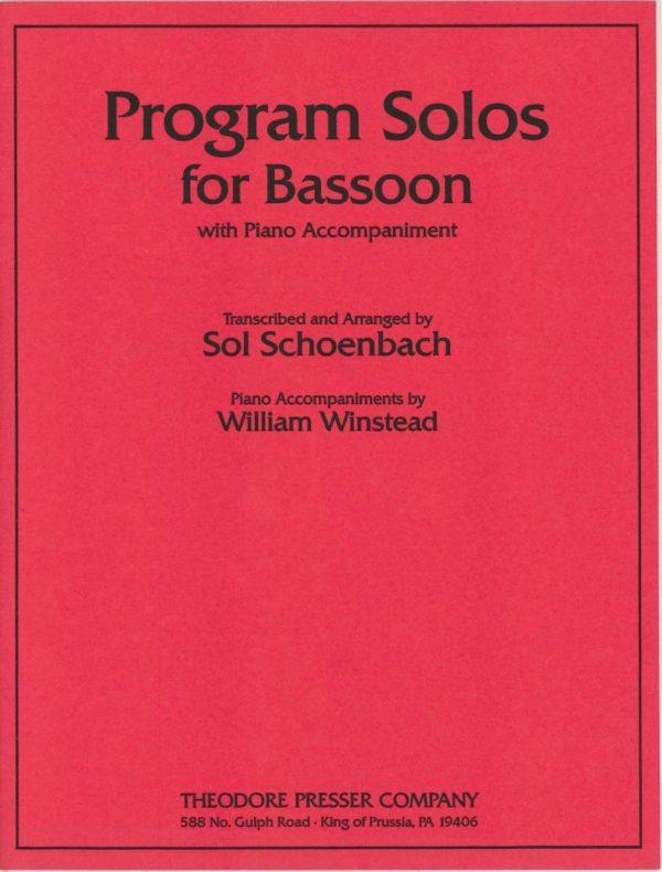 Schoenbach: Program Solos for Bassoon