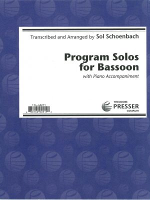 Schoenbach: Program Solos for Bassoon