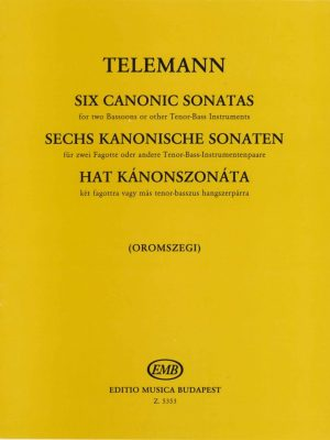 Telemann: 6 Canonic Sonatas for 2 Bassoons