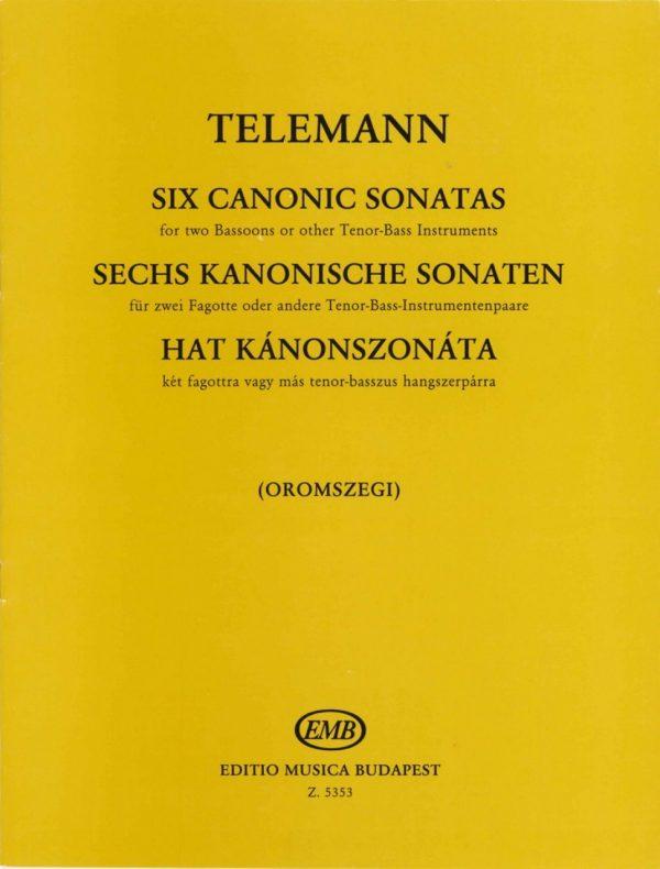 Telemann: 6 Canonic Sonatas for 2 Bassoons