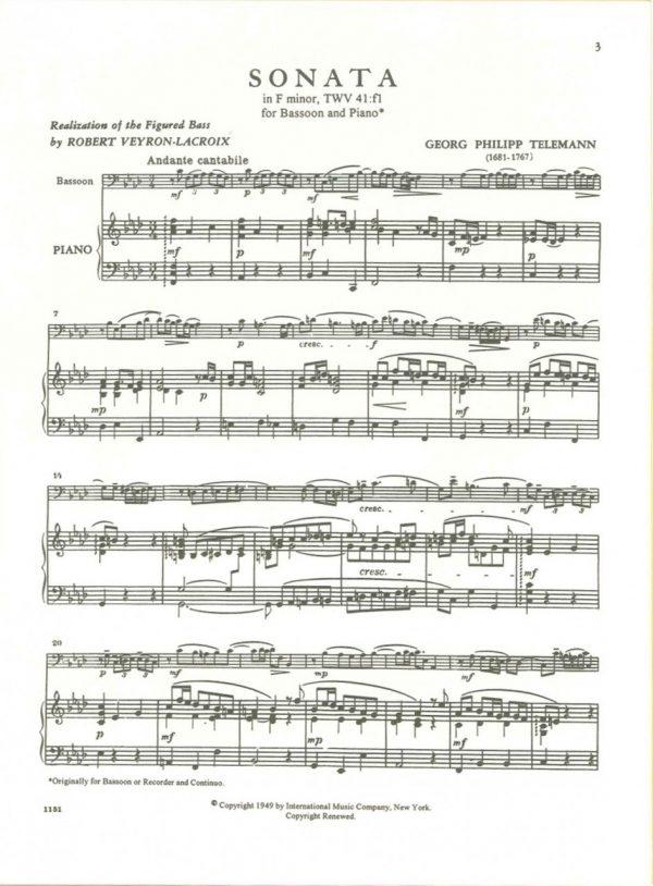 Telemann: Sonata in F Minor, TWV 41:f1