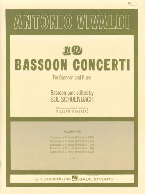 Vivaldi: 10 Bassoon Concerti,  Vol 1