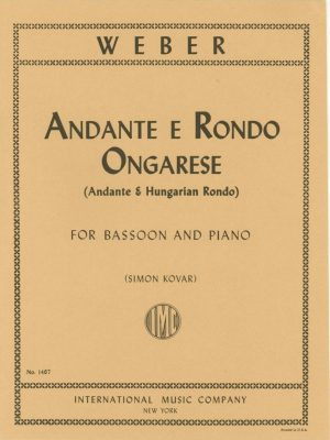Weber: Andante and Hungarian Rondo