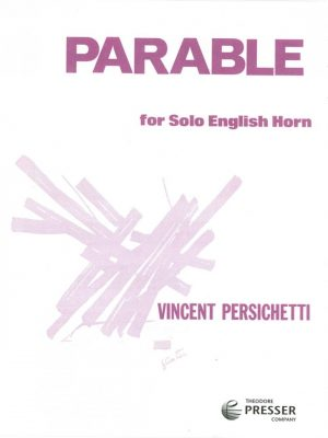 Persicheti: Parable for Solo English Horn