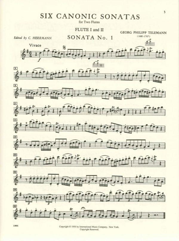 Telemann: Canonic Sonatas for Flute (or oboe)