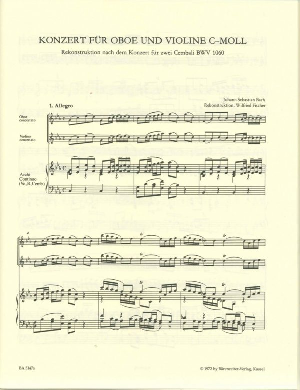 Bach: Concerto in C minor for Oboe and Violin