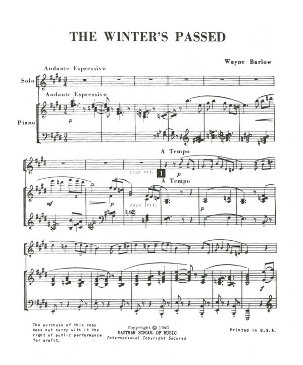 Fisher: The Winters Passed