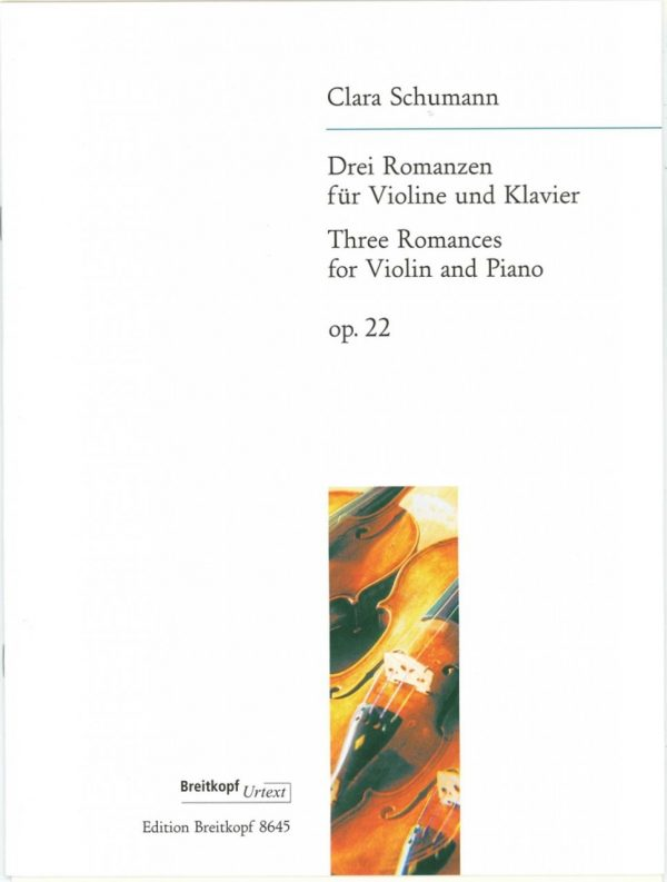 Clara Schumann: Three Romances for (Violin) Oboe & Piano, Op. 22
