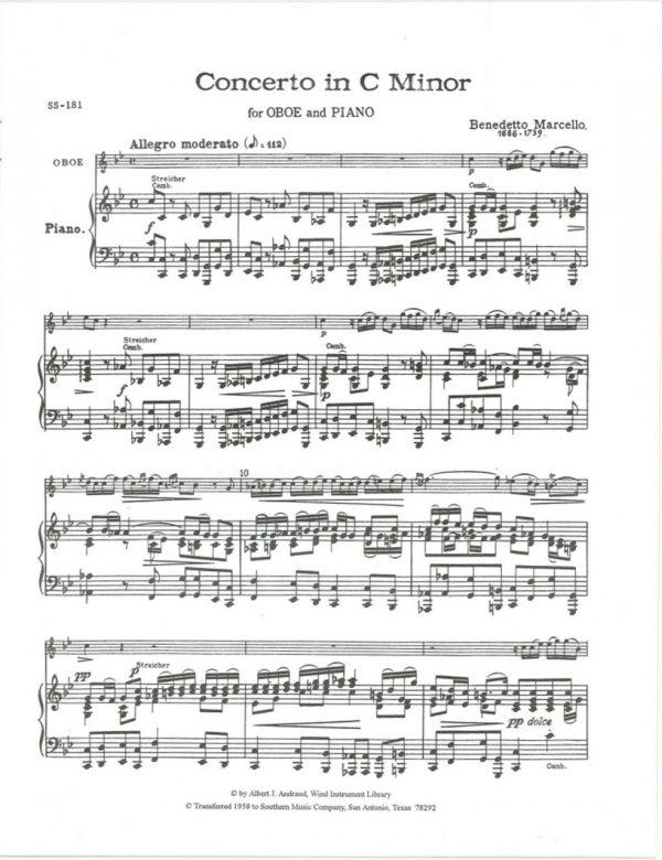 Marcello: Oboe Concerto in C Minor