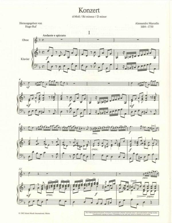Marcello: Oboe Concerto in D Minor