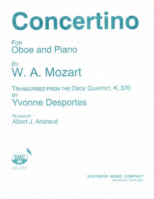 Mozart: Oboe Quartet arranged for Oboe and Piano