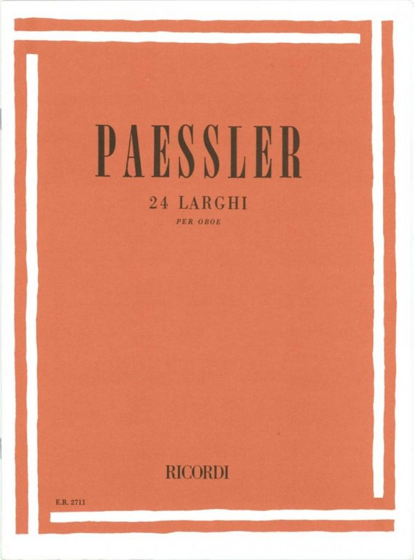 Paessler: 24 Larghi for Oboe