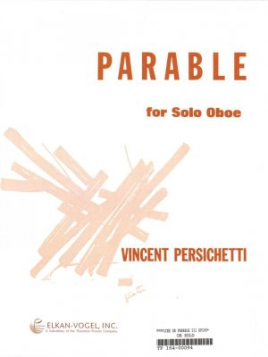 Persicheti: Parable For Solo Oboe