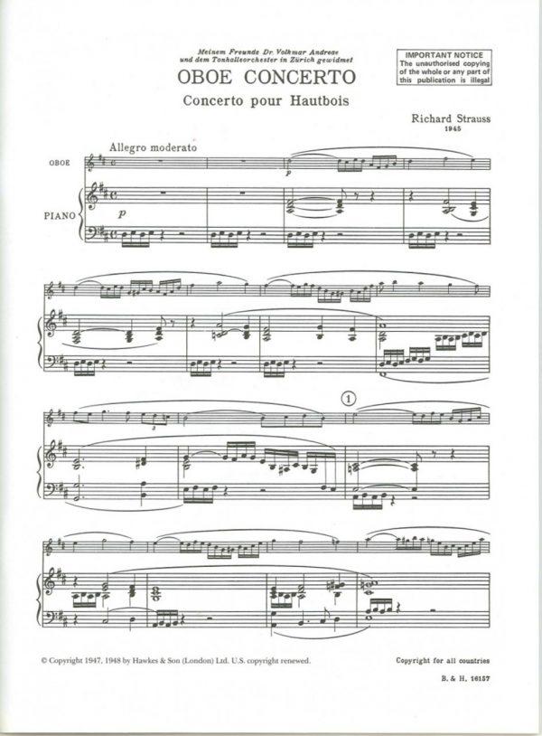 Strauss: Oboe Concerto