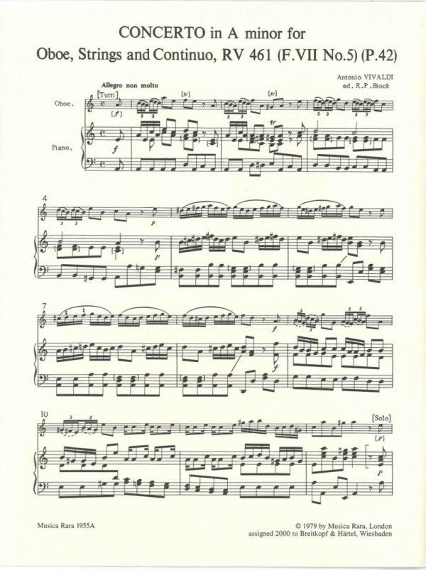 Vivaldi: Oboe Concerto in A Minor, RV461