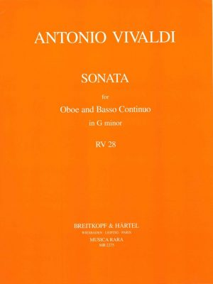 Vivaldi: Oboe Sonata in G Minor, RV28