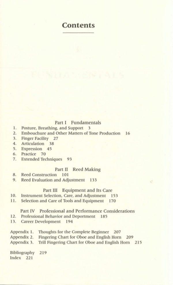 Schuring, Martin; Oboe: Art and Method