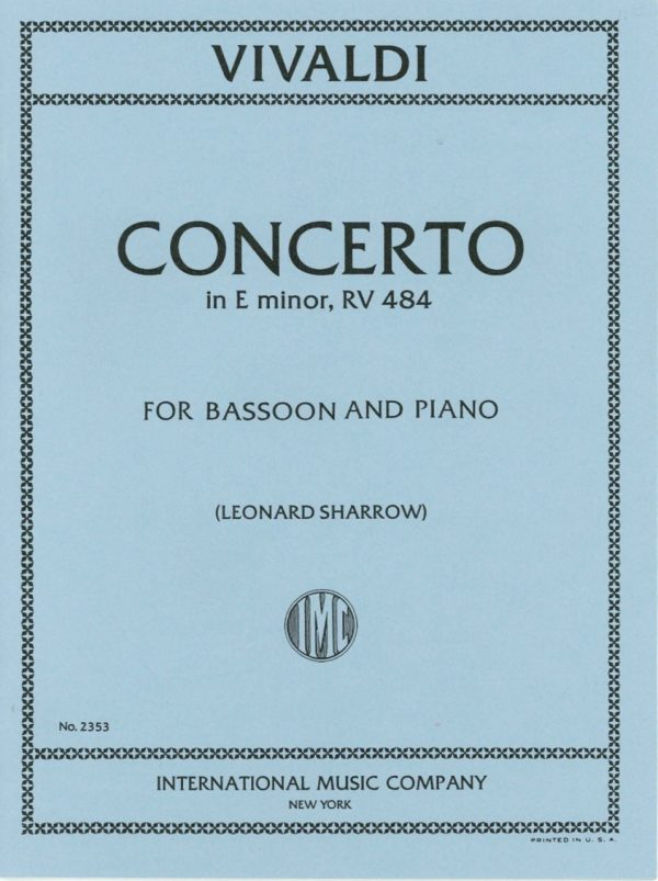 Vivaldi: Concerto in E Minor, RV 484