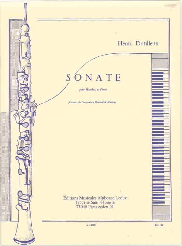 Dutilleux:  Sonata for oboe